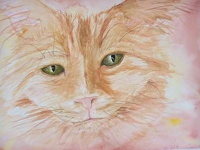 Emerald Eyes Art Print by Barbara McGeachen