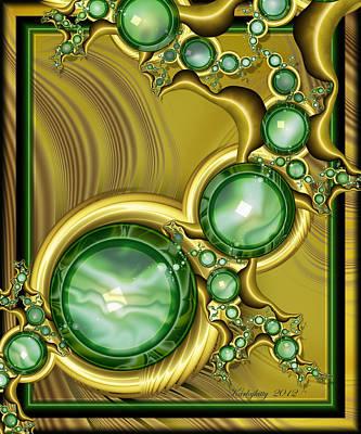 Emerald Gloss Art Print