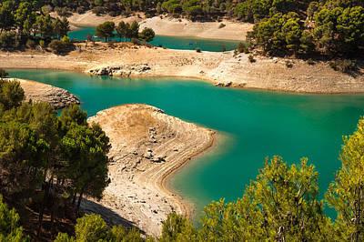 Photograph - Emerald Lake I. El Chorro. Spain by Jenny Rainbow