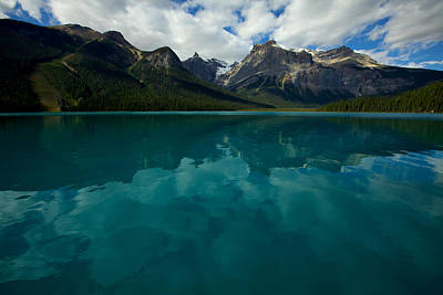 Art Print featuring the photograph Emerald Lake by Jane Melgaard