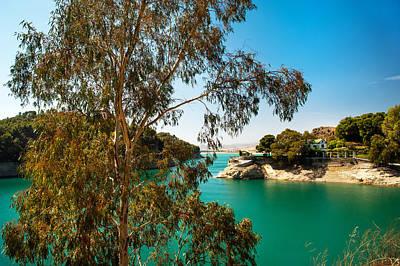 Photograph - Emerald Lake With Duke House I. El Chorro. Spain by Jenny Rainbow