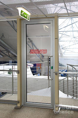 Tallinn Airport Photograph - Emergency Exit At An Airport by Jaak Nilson