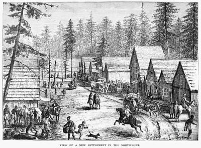 Indian Basket Photograph - Emigrant Settlement, C1880 by Granger