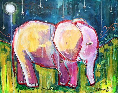 Painting - Emily's Elephant 1 by Laurie Maves ART