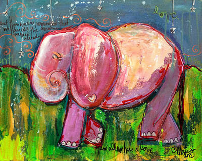 Painting - Emily's Elephant 3 by Laurie Maves ART