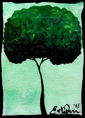 Emily's Trees Green Art Print by Oddball Art Co by Lizzy Love