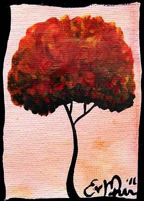 Emily's Trees Orange Art Print