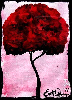 Emily's Trees Red Art Print