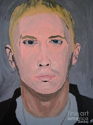 Acrylic Painting - Eminem Rap Singer by Jeannie Atwater Jordan Allen