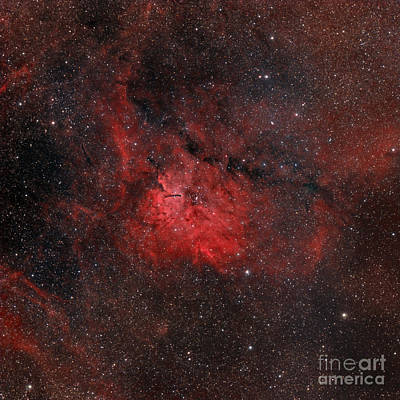 Emission Nebula Ngc 6820 Art Print by Rolf Geissinger