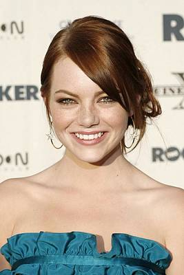 Hoop Earrings Photograph - Emma Stone At Arrivals For The Rocker by Everett