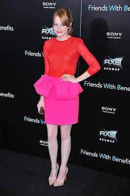Emma Stone Wearing A Giambattista Valli Art Print by Everett