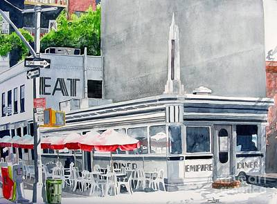 Art Print featuring the painting Empire Diner by Tom Riggs