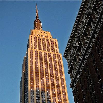 Skyscrapers Photograph - #empire #newyorker #newyork #ny by Joel Lopez
