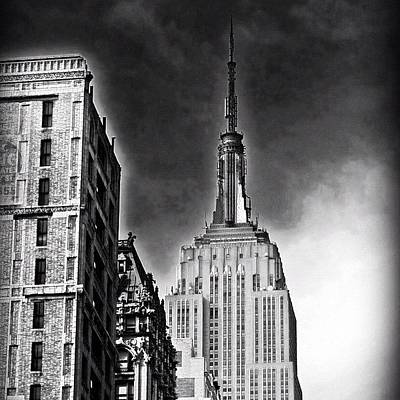 Skyscrapers Wall Art - Photograph - #empire #newyorker #ny #architecture by Joel Lopez
