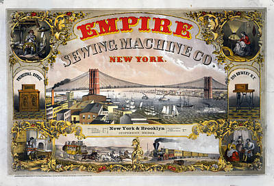Empire Sewing Brooklyn Art Print by Charles  shoup