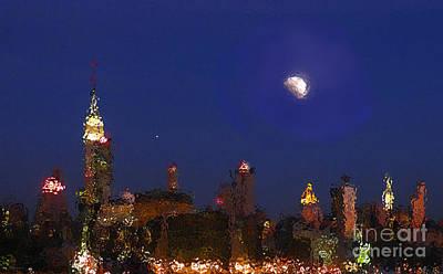 Photograph - Empire Skyline In Glass by Deborah Smith