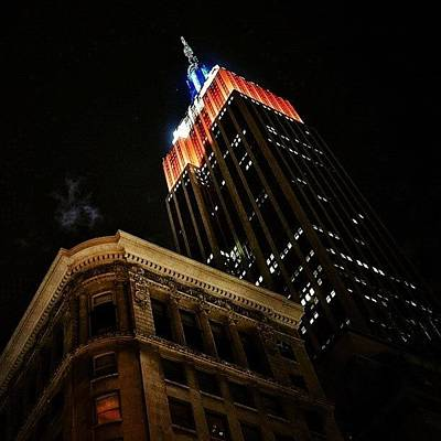 Skylines Wall Art - Photograph - Empire State Bldg. - Ny by Joel Lopez