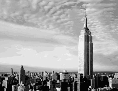 Empire State Building Bw16 Art Print