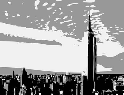 Empire State Building Bw3 Art Print