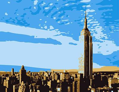 Empire State Building Color 6 Art Print by Scott Kelley