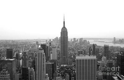 Photograph - Empire State Building In Black And White by Living Color Photography Lorraine Lynch