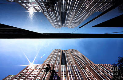 Blue Glass World Photograph - Empire State Building Reflections by Nishanth Gopinathan