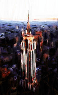 Empire State Building Painting - Empire State Building by Steve K