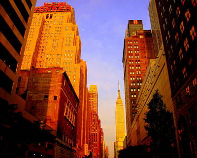 Photograph - Empire State Building Sunset by Ms Judi