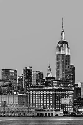 Empire State Bw Art Print by Susan Candelario