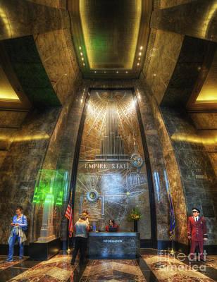 Photograph - Empire State Lobby Vertorama by Yhun Suarez