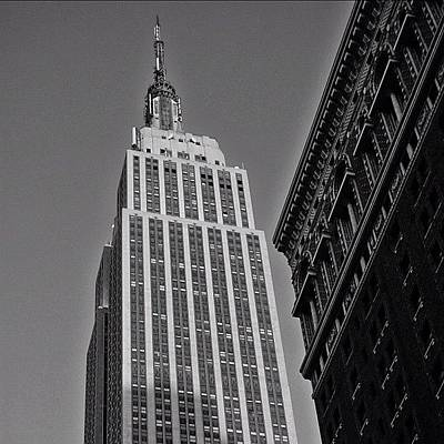 Skyscrapers Wall Art - Photograph - #empirestate #empire #usa #newyorker by Joel Lopez