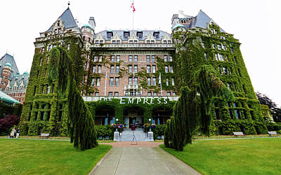 Empress Hotel - Victoria Canada  Art Print by Gregory Dyer