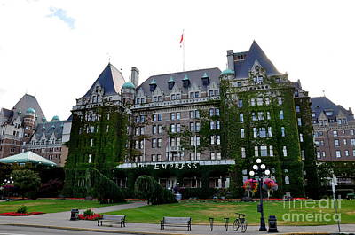 Pacific Northwest Photograph - Empress Hotel Victoria Canada by Tanya  Searcy