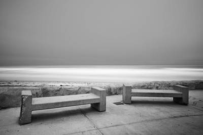 Benches Photograph - Emptiness by Larry Marshall