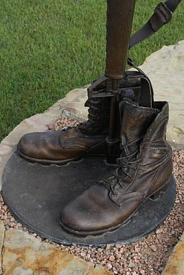 Photograph - Empty Boots by Lynnette Johns