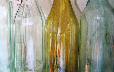 Photograph - Empty Bottles Line Up by Rich Franco