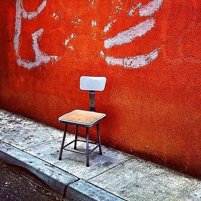 City Photograph - Empty Chair by Julie Gebhardt