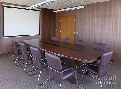 Screen Doors Photograph - Empty Conference Room by Jaak Nilson