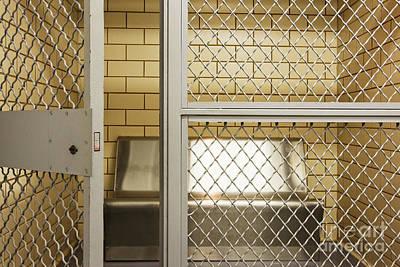 Empty Jail Holding Cell Art Print by Jeremy Woodhouse