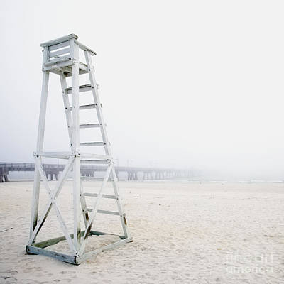 Empty Life Guard Station Art Print by Skip Nall