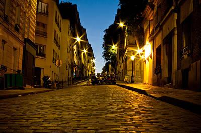 Photograph - Empty Paris Street At Dusk by Anthony Doudt
