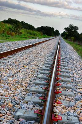 Empty Railway Art Print by Carlos Caetano
