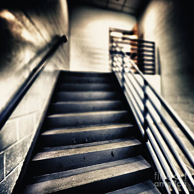 Empty Stairwell Art Print by Skip Nall