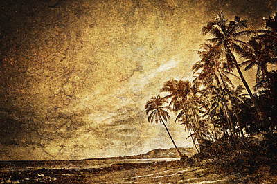 Empty Tropical Beach 3 Art Print by Skip Nall