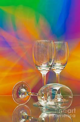 Empty Wine Glass Art Print by Anuwat Ratsamerat