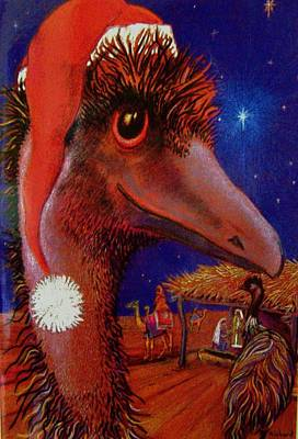 Emus Christmas Art Print by Richard Rogers