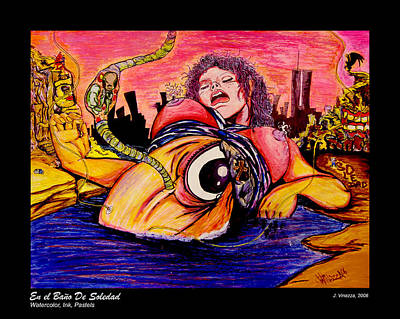 Painting - En El Bano De Soledad by eVol  i