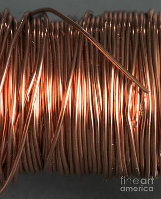 Copper Wire Photograph - Enamel Coated Copper Wire by Photo Researchers