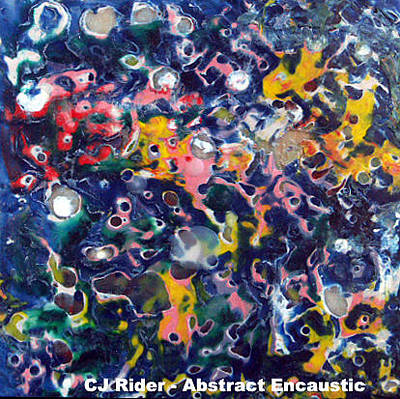 Painting - Encaustic Melt by CJ  Rider